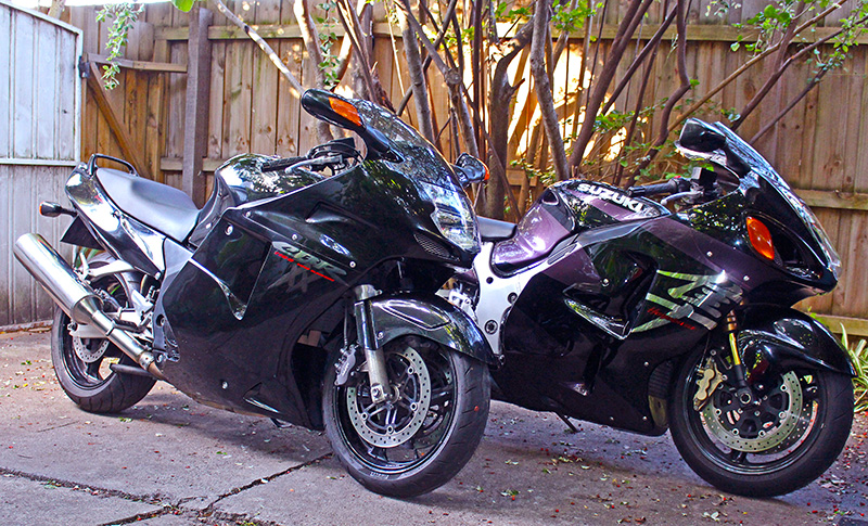 Honda Blackbird and Hayabusa
